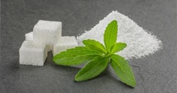 Stevia und Zucker