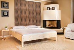 Zirbenbett 180x200 cm metallfrei, Zirbenholzbett ohne Rückenlehne -