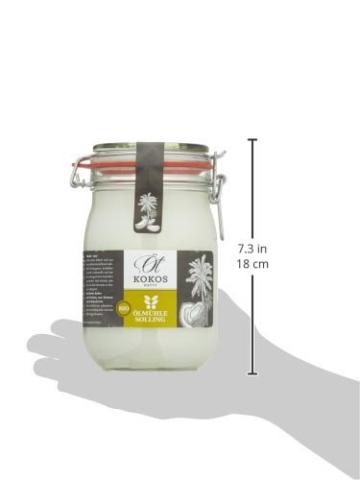 Ölmühle Solling Bio Kokosöl im Bügel-Glas 1000ml -