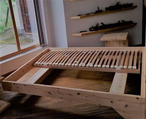 Holzbett Modell Living Zirbe Basis Aus Zirbenholz - 1