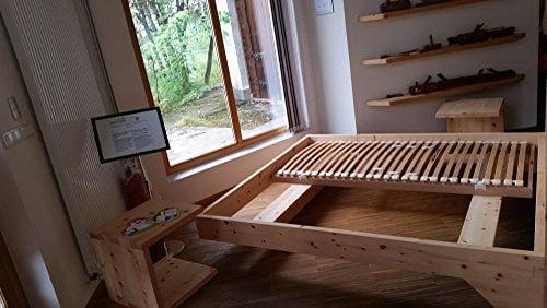 Holzbett Modell Living Zirbe Basis Aus Zirbenholz - 2