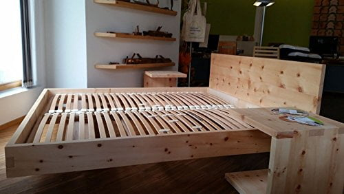 Holzbett Modell Living Zirbe Basis Aus Zirbenholz - 3