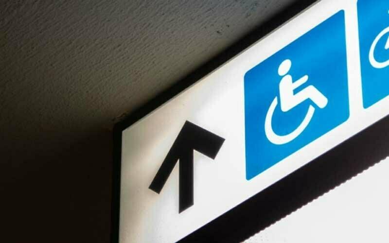 Rollstuhl Zeichen