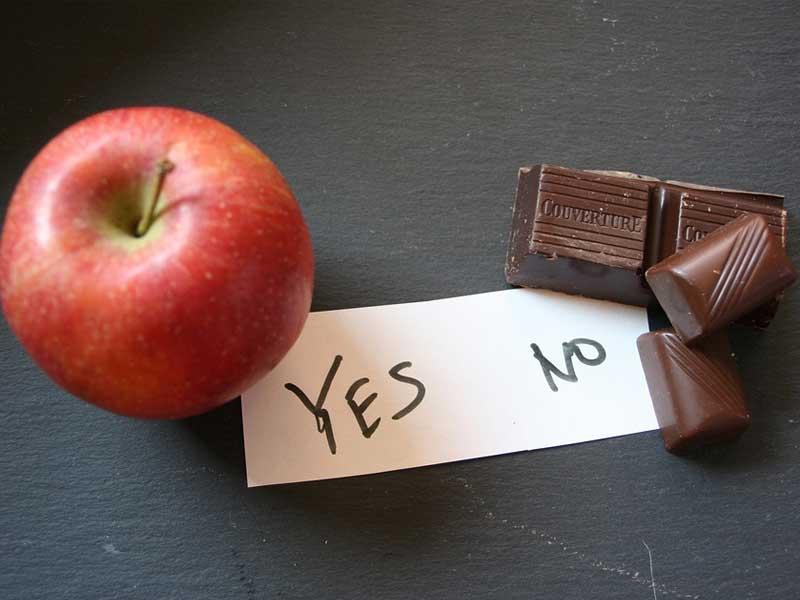 Apfel und Schokolade