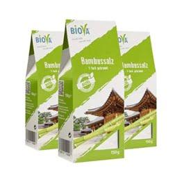 Biova Bambussalz, 150g, 3er Pack - 1