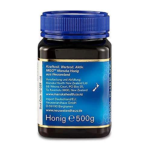Manuka Health - Manuka Honig MGO 400+ 500g - 100% Pur aus Neuseeland mit zertifiziertem Methylglyoxal Gehalt - 3