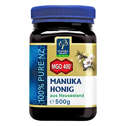 Manuka Health - Manuka Honig MGO 400+ 500g - 100% Pur aus Neuseeland mit zertifiziertem Methylglyoxal Gehalt - 1